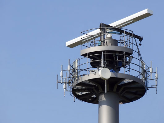 radar tower and surveillance equipment